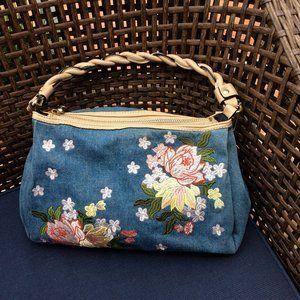 Joe's Floral Shoulder Bag Blue